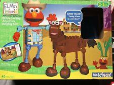Elmo'S World Talking Cowboy & Pirate Adventure K'Nex 2 Building Sets 83 Pcs 2-5Y
