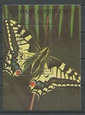 Papillons Saint Thomas et prince (35) bloc oblitéré