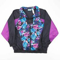 Vintage BASIC EDITIONS  Black 00s Nylon Casual Shell Jacket Womens XL