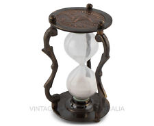 Vintage Nautical Sand Hour Glass Timer Aus 1930 Penny Brass Finish Antique Gift