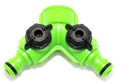 3 WAY SPLITTER di tubi flessibili con doppia chiusura gd231 si adatta HOZELOCK, GARDENA, Regno Unito taglie