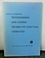 1963 IBM 7090 7094 IBM 709 Computer Programming Core Memory Machine Language