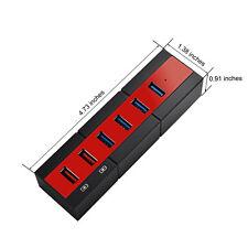 6 Ports USB 3.0 Charging Hub Adapter Splitter for Computer Tablets USB Disks