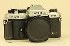 Rare Yashica FX-3 Super 2000 Silver 35mm SLR Film Camera