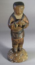 A Very Rare and Fine Korean Wood Carved/Polychromed Standing Dongja-18th C.
