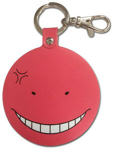 **Legit** Assassination Classroom Anime Keychain Annoyance Red Korosensei #38593