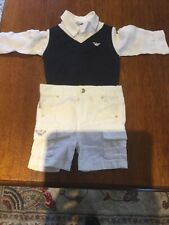 Armani baby boy ,3 piece outfit,6 Months old