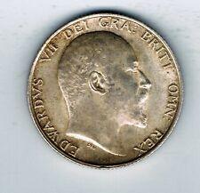 More details for 1910 edward vii silver shilling coin - 5.6g