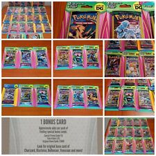Lot of 3 Sealed Pokemon Blister Packs (6 Cards + Bonus per Pack) DG Boosters