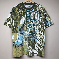 Vintage 90S Body Glove All Over Print T Shirt Jet Ski Rad Surf Beach Mens L