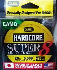 DUEL HARDCORE SUPER 8 MICRO PITCH BRAID LINE CAMO 20lb 0.23mm 150yd COL CAMO