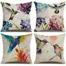 45X45CM HUMMINGBIRDS FLOWER PATTERN PILLOW CASE CUSHION COVER HOME SOFA DECOR Bo