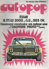 AUTOPOP 17 1972 BMW 2002 Gr2 GROUPE 2 RENAULT DAUPHINE PROTO MAGNY COURS