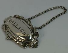 1858 Victorian Solid Silver HOLLANDS Wine or Gin Decanter Label by