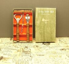 BAR set boxed vintage corkscrew RUSTIKAL bottle opener wood handles