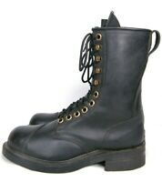 VTG 1991 Biltrite ANSI Z41.1983/75 Black Leather Military Boots Steel Toe 6.5 W