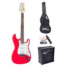 NEW Pyle PEGKT15R Beginner Electric Guitar Package W/Amplifier Tuner Picks & Bag