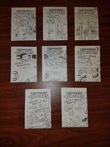 TMNT Secret Sewer Map RARE Complete Set (1-8) Vintage 1990 Mirage Studios Lot