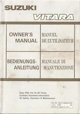SUZUKI VITARA manuale di istruzioni 1988 MANUALE D'USO OWNER 'S MANUAL... BA