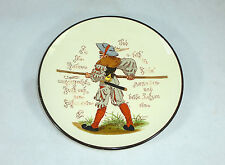 Geritzter seltener Keramik Teller um 1860 Sarreguemines Mettlach ?