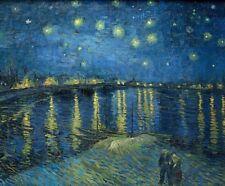 Starry Night Van Gogh Art Poster Print CANVAS Expressionism Home Decor 8x10