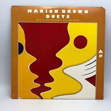 Marion Brown Schwartz & Leo Smith Duets 1975 Double LP Vinyl Record Free Jazz NM