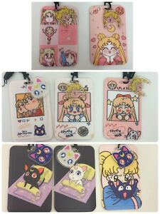 Anime Sailor Moon USAGI Kawaii Luna Artemis charm  ID card holder purse LANYARD