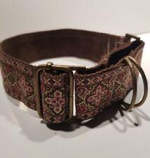 "Gorgeous handmade Jacquard Martingale Dog Collar 1.5"" wide MEDIUM 39 - 50cm"