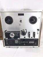 Vintage AKAI Reel-to-Reel Tape Recorder X-200DTested Works  w/ Manual