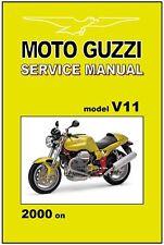 MOTO GUZZI Workshop Manual V11 Sport 2000 2001 2002 2003 2004 FACTORY Service