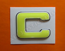Pegatina Letra C 3D Color Amarillo Tamaño 25mm