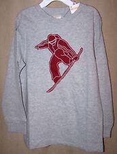 NWT Boys Gymboree Long Sleeve Snowboard Shirt sz 5 Gray Maroon Snow Olympics NEW