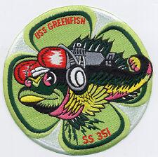 USS Greenfish SS 351 - Fish Cloverleaf BC Patch Cat No B740