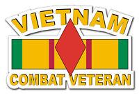 "Vietnam 5th Infantry Div Combat Veteran 5.5"" Window Sticker Decal"