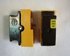 2 x 20 ampères fusible unité de consommation complète-cartouche fusible - 20A BS1361 free p & p