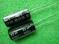 10pcs Panasonic 450V 22UF Electrolytic Capacitor 13x26mm