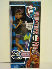 Monster High Dead Tired Clawdeen Wolf New Release and hard to find  New in Box