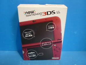 New Nintendo 3DS XL LL Game Console Metalic Red Used with Box From Japan F/S