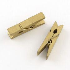 Paréntesis mini 24 unid aprox 2,5 cm amarillo waescheklammern mini paréntesis madera paréntesis