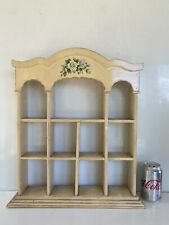 SMALL VINTAGE DISPLAY SHELVES CABINET SHABBY CHIC FREE STANDING OR WALL HANGING