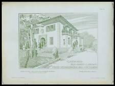 MUNICH, VILLA PRINZ LUDWIGSHOHE - 1902 - PLANCHE ARCHITECTURE - FRANZ RANK