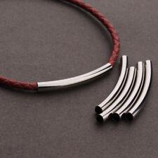 20pcs/lot 48MM Rhodium Plated Tube Spacer Beads Connectors For DIY Bracelet DIY