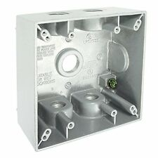 Hubbell-Bell5337-1 2-Inch Deep2-Gang5Outlet31 Cubic Inch Weatherproof Box, White