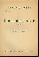 Anton Dvorak : Humoreske op. 107 Nr. 7