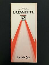 Ms Lafayette - French Line | Pre-Maiden Voyage Interior Brochure