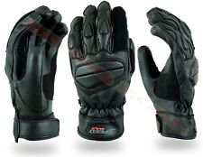 MENS SHORT THERMAL PADDED WINTER MOTORBIKE / MOTORCYCLE MOTOCROSS LEATHER GLOVES