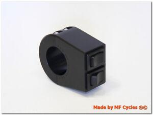 Lenkerschaltergehäuse Alu schwarz für 22mm 7/8 Zoll Lenker inkl. Taster Schalter