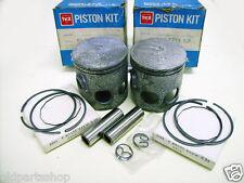 Yamaha RD350YPVS RZ350 Piston Kit 0.25 x2 NOS 1st Oversize Piston RING Pin Clip