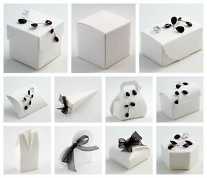 SILK ANTIQUE OFF WHITE - Luxury DIY Wedding Party Favour Gift Boxes - Box Only