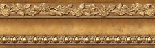 Golden Brown Wallpaper Border Molding Effect Self Adhesive Wall Covering HT-022